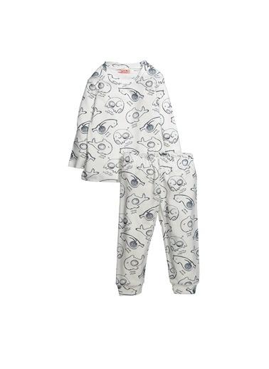 Zeyland Mama Elephant Baskılı Pijama Takımı (1-4yaş) Mama Elephant Baskılı Pijama Takımı (1-4yaş) Ekru